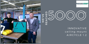 5000TH BROOKVENT AIRCYCLE CEILING MOUNT HRV UNIT_Tw