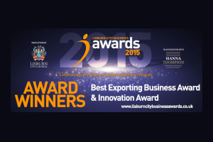 Lisburn City Business Awards 'Best Exporting Business' 2015