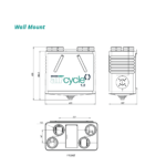 aircycle 1.2 Heat Recovery Ventilation System wall mount