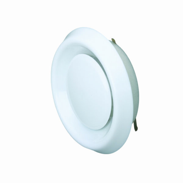 100mm  PVC Air Valve – Extract or Supply – White