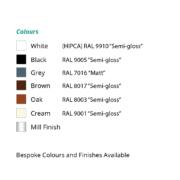 SM 1000 colour chart