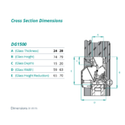 DG 1500 cross section dimensions