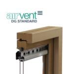 airvent DG Standard glazed in window vent visual