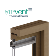 Thermal break glazed in window vent