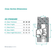 DG Standard cross section dimensions