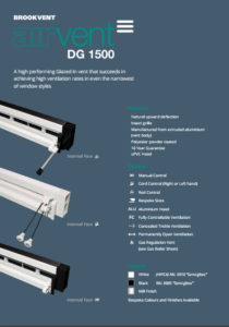 airvent DG 1500 glazed in window vent brochure