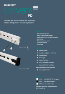 airvent PD - Patio Door glazed in window vent brochure