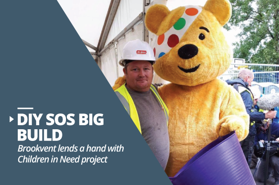 Brookvent lends a hand with Children in Need DIY SOS Project