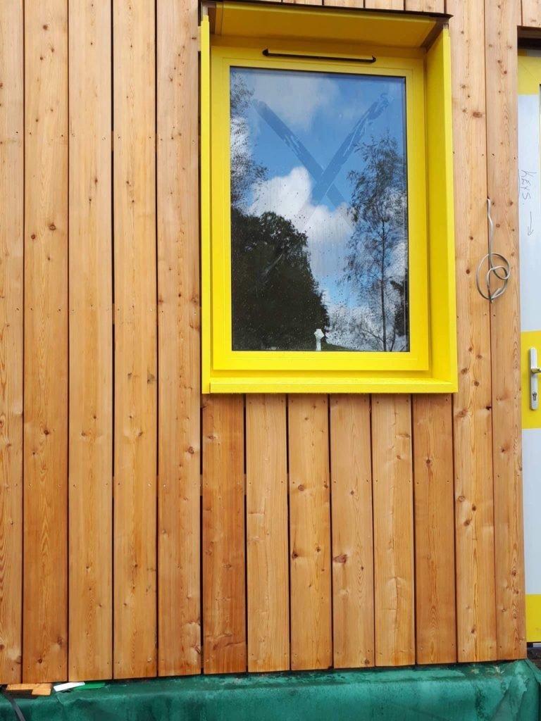 Brookvent bespoke yellow external hood